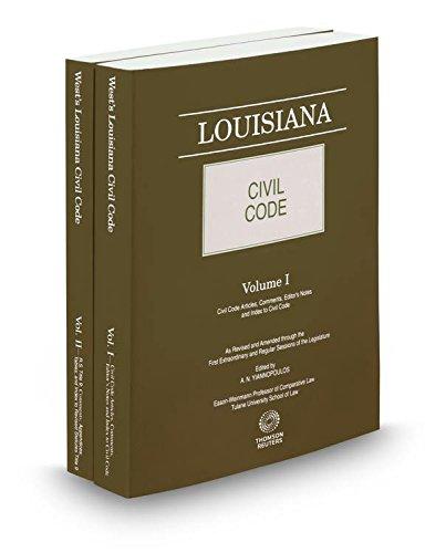9780314257789: Louisiana Civil Code (2 Volume Set)