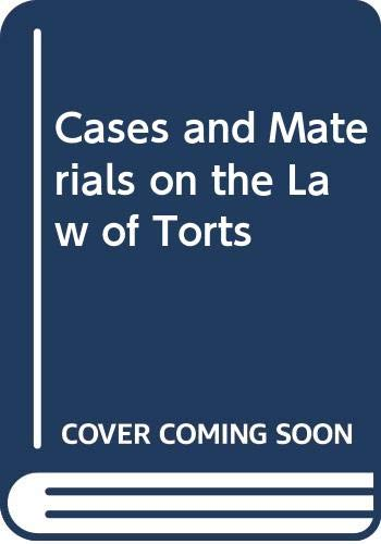 9780314259578: Cases and Materials on the Law of Torts