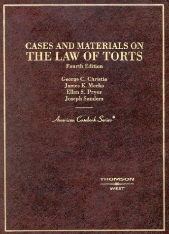 9780314259585: Cases and Materials on the Law of Torts (American Casebook Series)