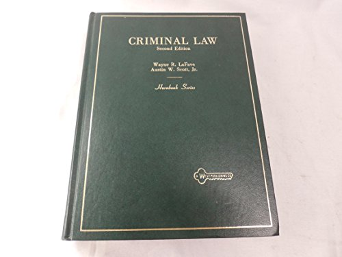 9780314260451: Criminal Law (American Casebook Series, Hornbook Series and Basic Legal Texts Nutshell Series)