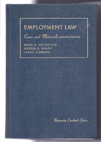 Cases and Materials on Discrimination in Employment: William P. Murphy;