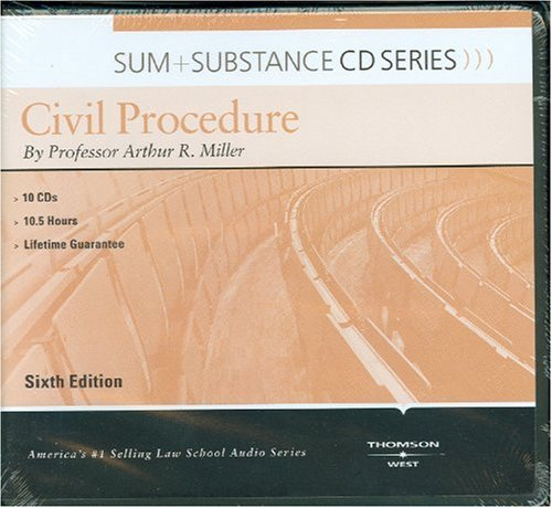 9780314261809: Sum & Substance Audio on Civil Procedure, 6th (CD) (Sum and Substance)