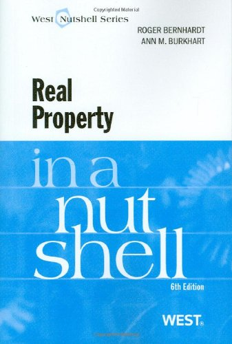 9780314261878: Real Property in a Nutshell, 6th (West Nutshell) (Nutshells)