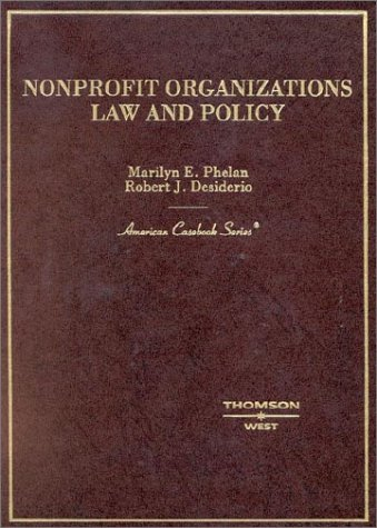 9780314261984: Non-Profit Organizations: Law and Policy