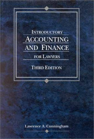 9780314262851: Introductory Accounting and Finance for Lawyers (American Casebook Series)