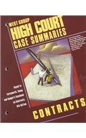9780314263438: High Court Case Summaries on Contracts (Keyed to Farnsworth, Sixth Edition)