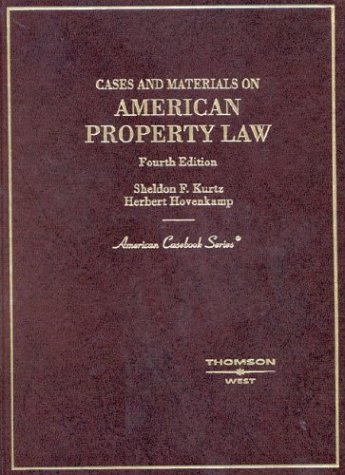 9780314263766: Cases and Materials on American Property Law (American Casebook Series)