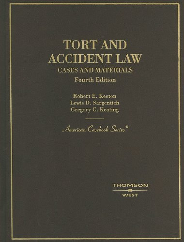 9780314263797: Tort and Accident Law: Cases and Materials, 4th (American Casebook Series)