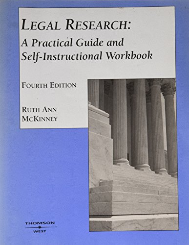 9780314264350: Legal research: A practical guide and self-instructional workbook