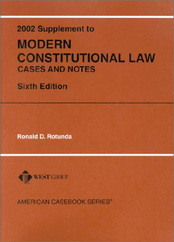 9780314264435: Modern Constitutional Law, Cases and Notes (American Casebook Series and Other Coursebooks)