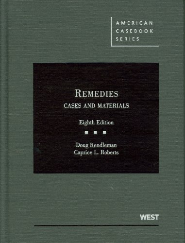 9780314264664: Remedies, Cases and Materials (American Casebook Series)