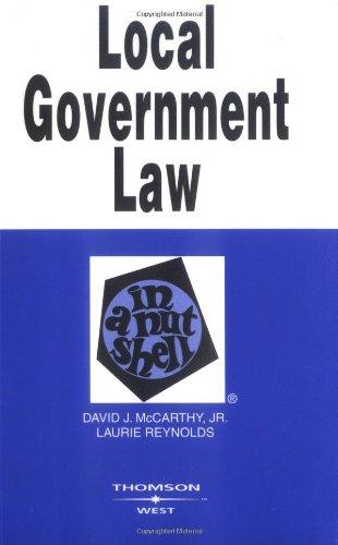 9780314264893: Local Government Law in a Nutshell (Nutshells)