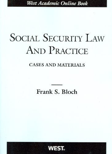 9780314264954: Social Security Law and Practice (American Casebook Series)