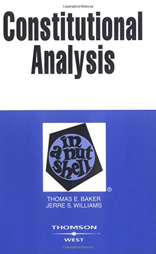 9780314265142: Constitutional Analysis in a Nutshell (Nutshells)