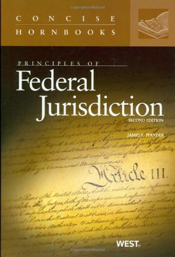 9780314265234: Principles of Federal Jurisdiction (Concise Hornbook Series)