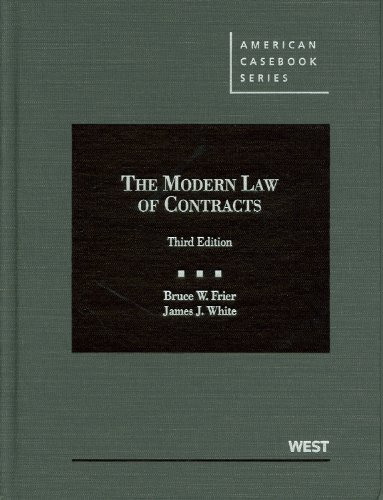 9780314265463: The Modern Law of Contracts (American Casebook Series)