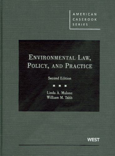 9780314266590: Environmental Law, Policy, and Practice (American Casebook Series)