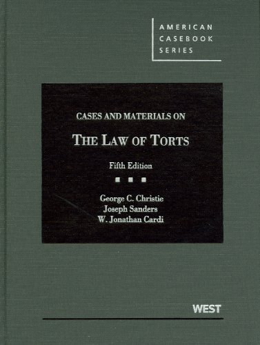 9780314266941: Cases and Materials on the Law of Torts (American Casebook Series)
