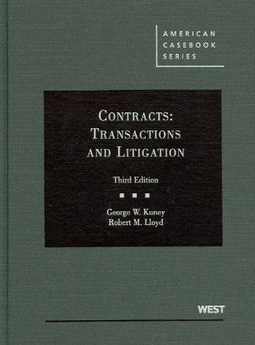 9780314267481: Contracts: Transactions and Litigation (American Casebook Series)