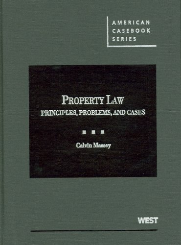 9780314268105: Property Law: Principles, Problems, and Cases (American Casebooks) (American Casebook Series)