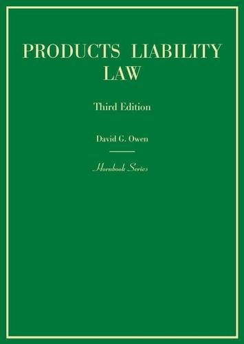 9780314268396: Products Liability Law, 3d (Hornbook Series)