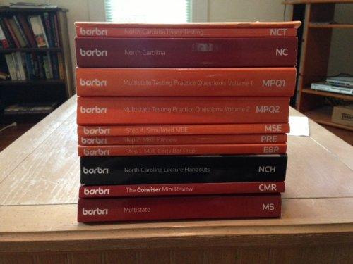 9780314269454: Barbri North Carolina Bar Exam Study Guides/Books - 2011 Edition