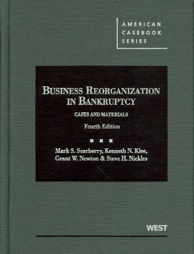 9780314271303: Business Reorganization in Bankruptcy (American Casebook Series)