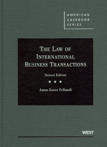 9780314271525: The Law of International Business Transactions (American Casebook Series)
