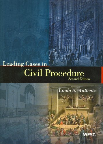 9780314274540: Leading Cases in Civil Procedure (American Casebook Series)
