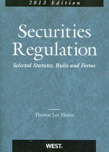 9780314275035: Securities Regulation, Selected Statutes, Rules and Forms