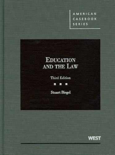 9780314275394: Education and the Law, 3d (American Casebook) (American Casebook Series)