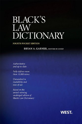 9780314275448: Black's Law Dictionary, Pocket Edition, 4th