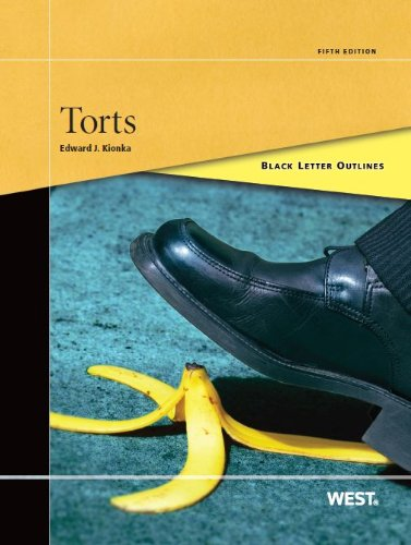 9780314275523: Black Letter Outline on Torts (Black Letter Outlines)