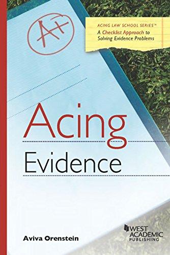 9780314276094: Acing Evidence (Acing Series)