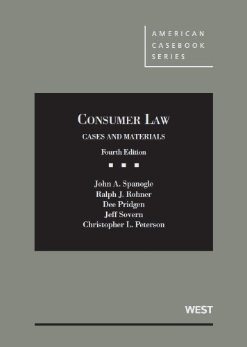 9780314277398: Consumer Law (American Casebook Series)