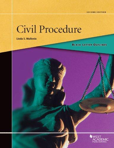 9780314277718: Black Letter Outline on Civil Procedure (Black Letter Outlines)