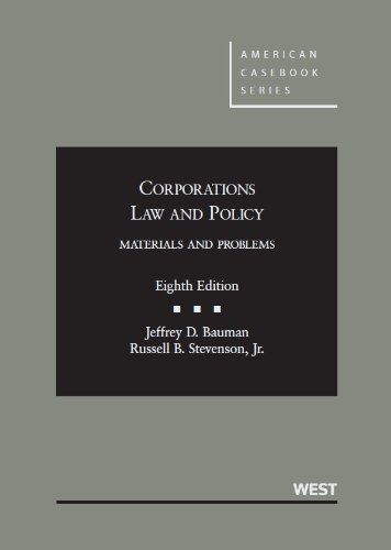 9780314277732: Corporations Law and Policy, Materials and Problems (American Casebook Series)