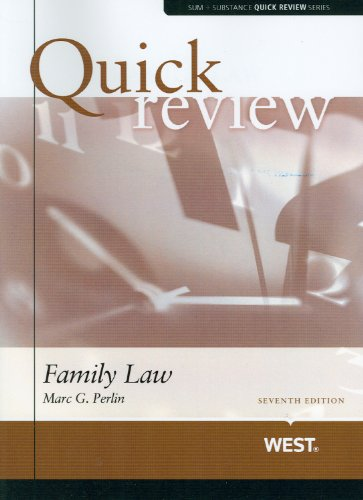 9780314277749: Sum and Substance Quick Review of Family Law (Quick Reviews)