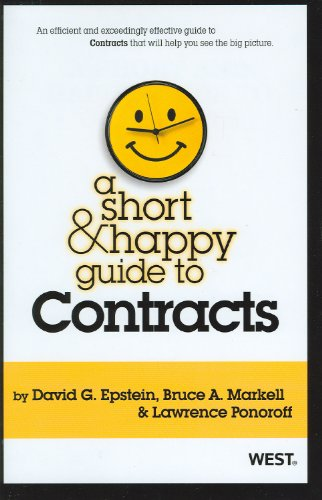 9780314277930: A Short & Happy Guide to Contracts (Short & Happy Guides)