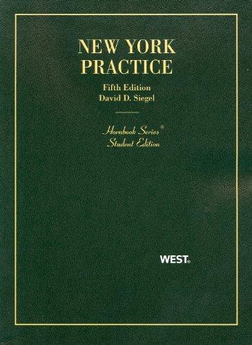 New York Practice: Siegel, David D.