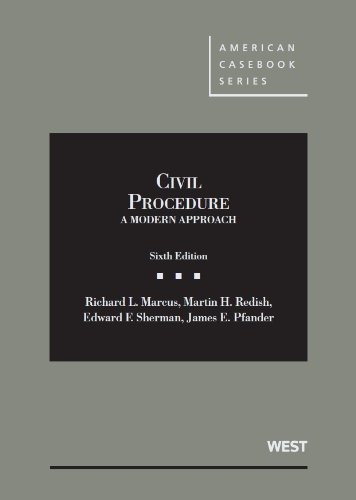 9780314278999: Civil Procedure, A Modern Approach (American Casebook Series)