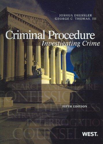 9780314279514: Criminal Procedure: Investigating Crime, 5th (American Casebook) (American Casebook Series)