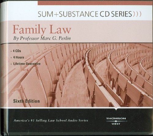 9780314279521: Sum and Substance Audio on Family Law