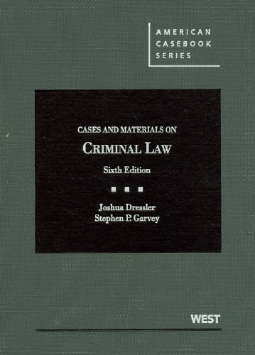 9780314279828: Cases and Materials on Criminal Law, 6th Edition (American Casebook Series)