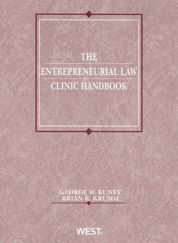 9780314280053: The Entrepreneurial Law Clinic Handbook (American Casebook Series)
