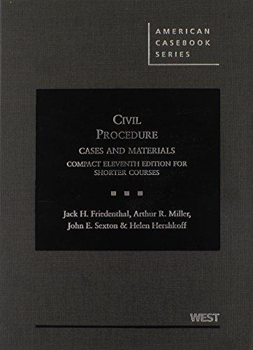 9780314280206: Civil Procedure (American Casebook Series)
