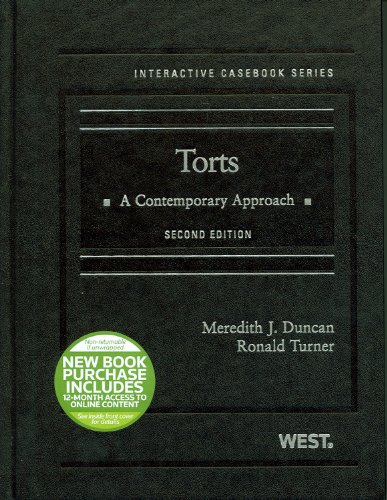 9780314280237: Torts: A Contemporary Approach, 2d (Interactive Casebook Series)