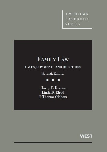9780314280251: Family Law: Cases, Comments and Questions, 7th (American Casebook Series)