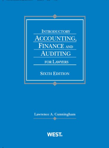 9780314280459: Introductory Accounting, Finance and Auditing for Lawyers (Coursebook)