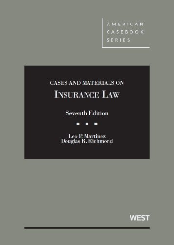 9780314280725: Cases and Materials on Insurance Law (American Casebook Series)